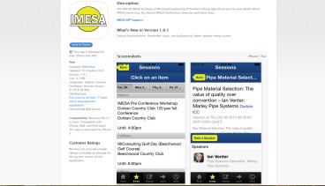 IMESA iOS and Android App