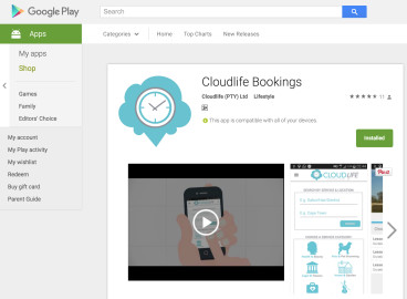 Cloudlife Bookings Smartphone App
